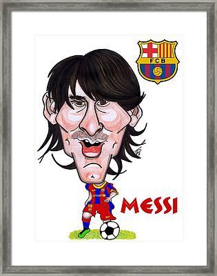 Messi Framed Print by Tom Glover