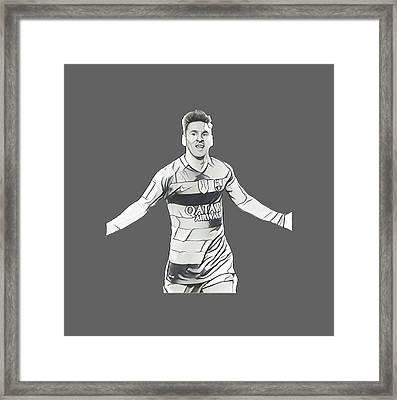 Messi Framed Print by Vincenzo Basile