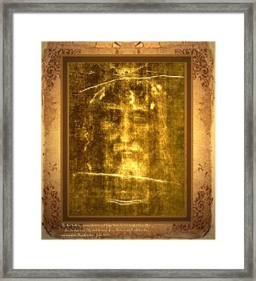 Messiah Manifested Framed Print