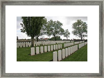 Framed Print featuring the photograph Messines Ridge British Cemetery by Travel Pics