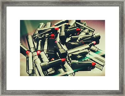 Messy Makeup In Retro Shades Framed Print by Jorgo Photography - Wall Art Gallery