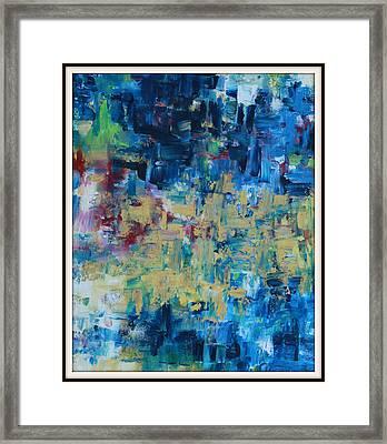 Messy Ocean Framed Print