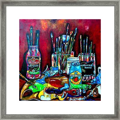 Messy Paints II Framed Print by Patti Schermerhorn