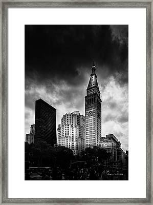 Framed Print featuring the photograph Met-life Tower by Marvin Spates