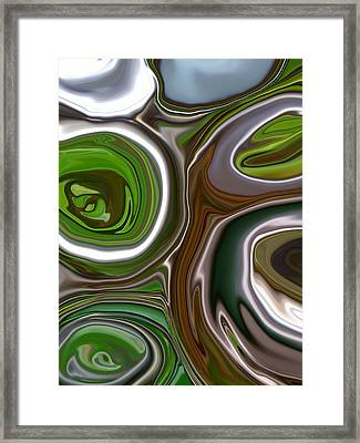 Metal Abstract Framed Print by Linnea Tober
