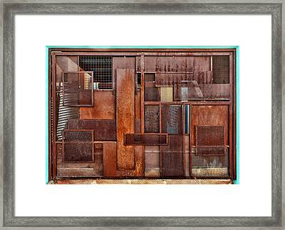 Metal - Abstract - Rust Framed Print