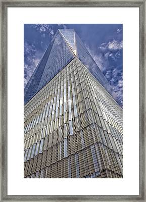 Metal And Glass Highrise Office Building Framed Print by Robert Ullmann