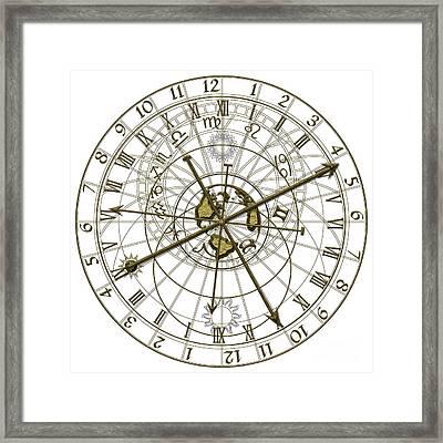 Metal Astronomical Clock Framed Print