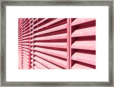 Metal Bars Framed Print