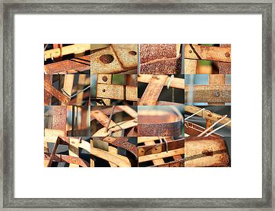 Metal Baskets Framed Print