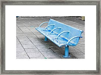 Metal Bench Framed Print