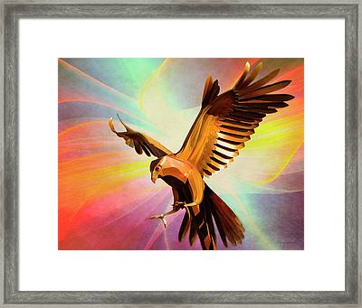Metal Bird 1 Of 4 Framed Print