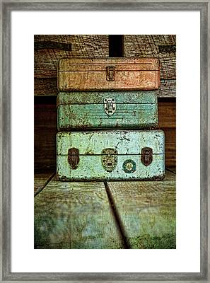 Metal Boxes Framed Print by Tom Mc Nemar