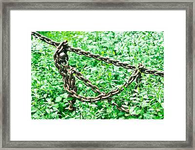 Metal Chain Framed Print by Tom Gowanlock