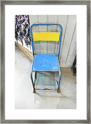 Metal Chair Framed Print by Tom Gowanlock
