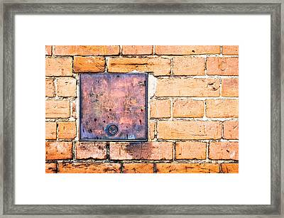 Metal Cover Framed Print by Tom Gowanlock