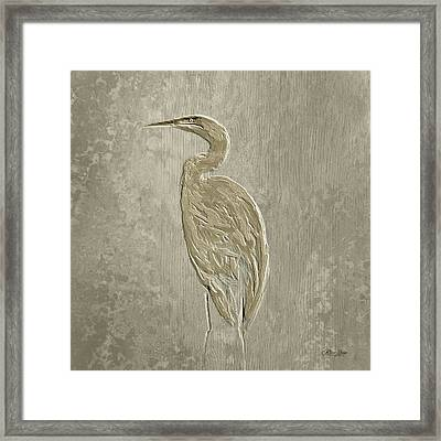 Metal Egret 4 Framed Print