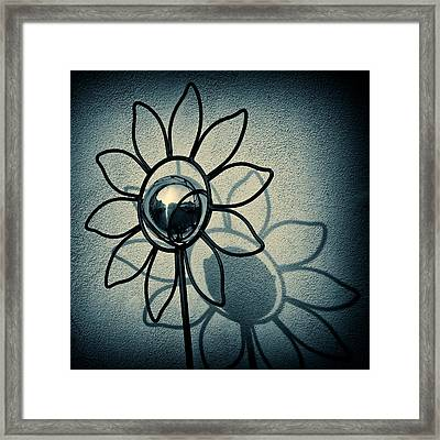 Metal Flower Framed Print by Dave Bowman