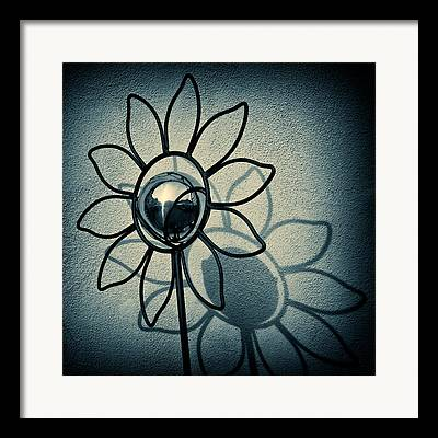 Abstract Sunflower Framed Prints