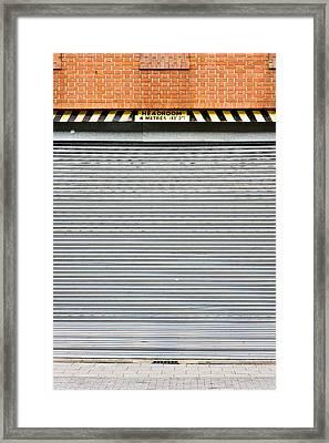 Metal Garage Framed Print
