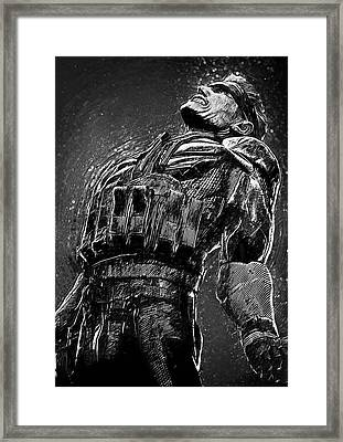 Metal Gear Solid Framed Print by Taylan Apukovska