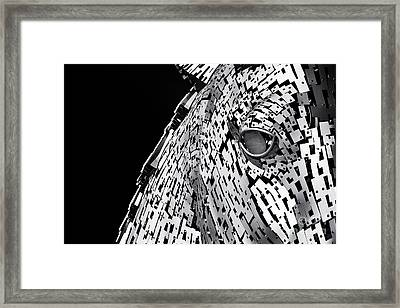 Metal Horse Abstract Framed Print