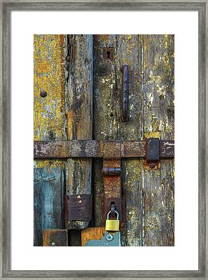 Metal Locks Framed Print by Carlos Caetano
