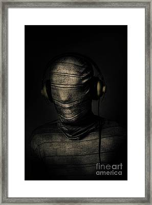 Metal Monster Mummy Framed Print