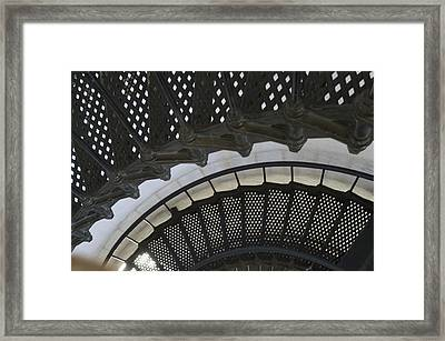 Metal Stair Case Framed Print by Linda Geiger