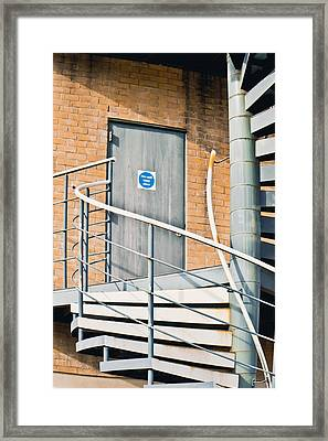 Metal Staircase Framed Print by Tom Gowanlock