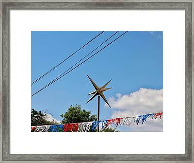Metal Star In The Sky Framed Print
