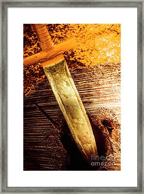 Metal Sword With Painted Handle Framed Print by Jorgo Photography - Wall Art Gallery
