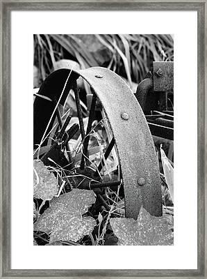 Metal Wheel Framed Print