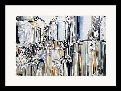 Reflection In Pitcher Paintings Framed Prints