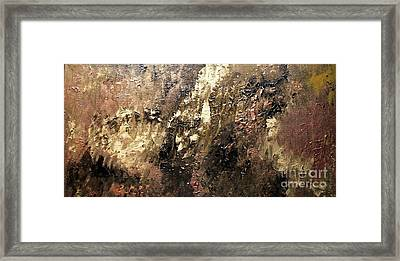 Metallic Abstract Framed Print by Shelly Wiseberg