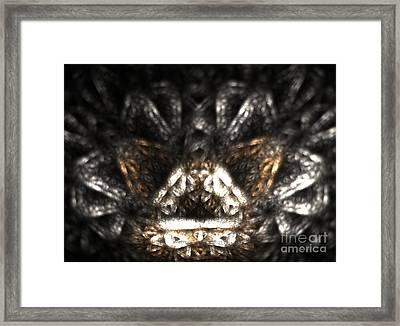Metallic Chaise Framed Print