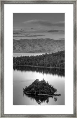 Metallic Emerald Bay  Framed Print