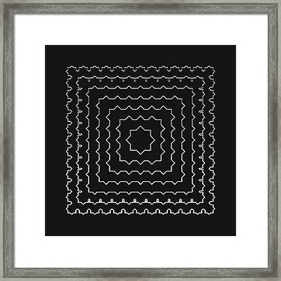 Metallic Lace Ai Framed Print