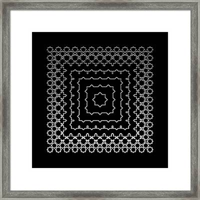 Metallic Lace Aii Framed Print