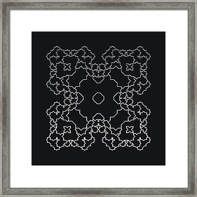 Metallic Lace Aiv Framed Print