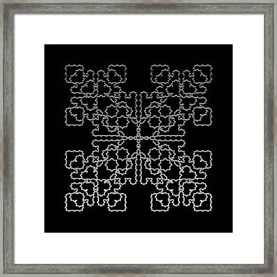 Metallic Lace Av Framed Print