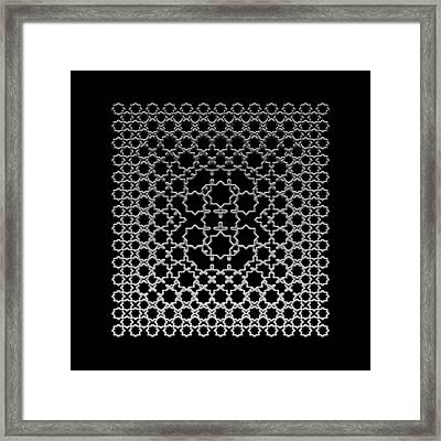 Metallic Lace Axxxv Framed Print
