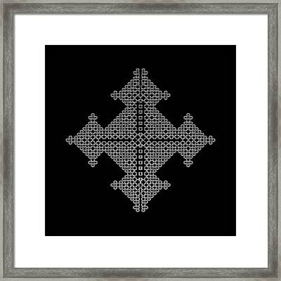 Metallic Lace Bix Framed Print