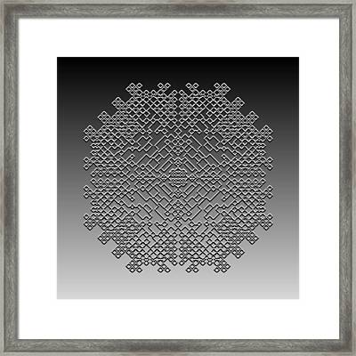 Metallic Lace Cxxix Framed Print