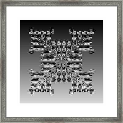 Metallic Lace Cxxx Framed Print
