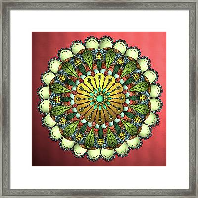 Metallic Mandala Framed Print