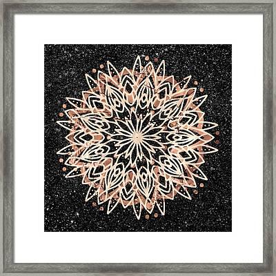 Framed Print featuring the digital art Metallic Mandala by Bee-Bee Deigner