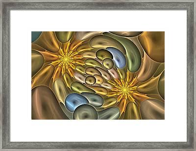 Metallic Mitosis Framed Print