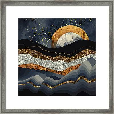 Metallic Mountains Framed Print
