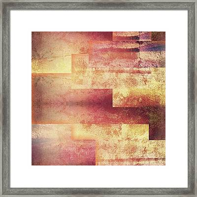 Metallic Red Gold Abstract Framed Print by Brandi Fitzgerald